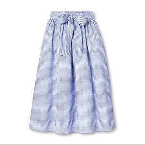 Vineyard Vines Target Blue Striped Midi Skirt XL